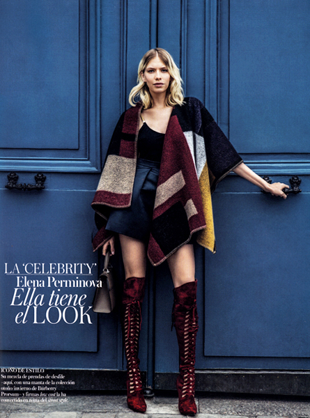 Vogue Spain. Elena Perminova